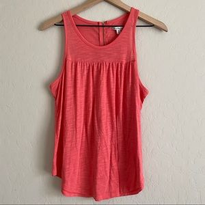 American Eagle Coral Tank Top with Zipper Back